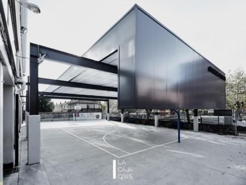 La Caja Gris - Fotografia de Arquitectura -Cubierta del CPI Antonio Trueba